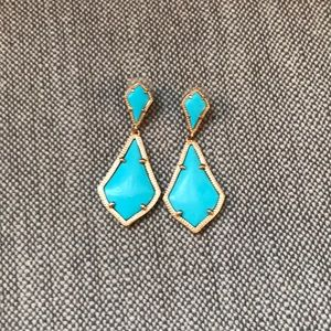 Kendra Scott turquoise earrings w rose gold accent